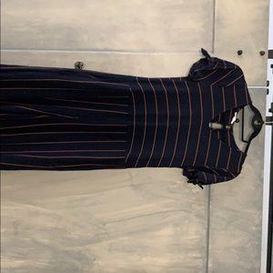 Striped jumpsuit (w/pockets)